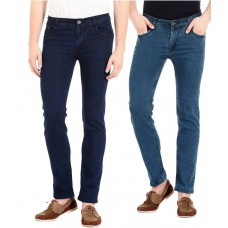 Deals, Discounts & Offers on Men Clothing - Flyjohn Blue Slim Fit Jeans