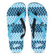 Deals, Discounts & Offers on Foot Wear - Lotto Venecia Blue and Black Flip Flops