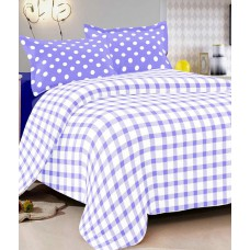 Deals, Discounts & Offers on Home Appliances - Vintana Blue Cotton Double Bedsheet With 2 Pillow Cover
