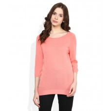 Deals, Discounts & Offers on Women Clothing - United Colors of Benetton PeachPuff Solid Top