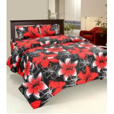 Deals, Discounts & Offers on Home Decor & Festive Needs - Bed & Bath Cotton Floral, Printed Queen sized Double Bedsheet