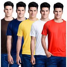Deals, Discounts & Offers on Men Clothing - Superjoy Combo Of 5 Plain Men T Shirts