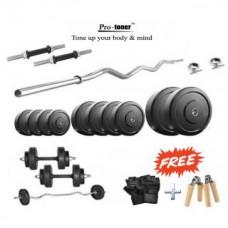 Deals, Discounts & Offers on Personal Care Appliances - Protoner 25 Kg Home Gym Set + Gloves + Grippers + Dumbells rods + 3 FT EZ BAR.