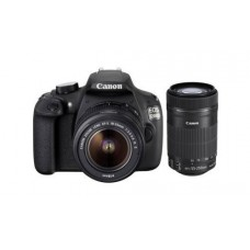 Deals, Discounts & Offers on Cameras - Canon EOS 1200D 18MP Digital SLR Camera with 18-55mm and 55-250mm IS II Lens,8GB card and Carry Bag