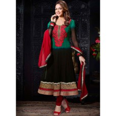 Deals, Discounts & Offers on Women Clothing - Hypnotex Black Embroidered Dress Material