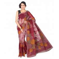 Deals, Discounts & Offers on Women Clothing - Pavecha's Maroon Polycotton Saree