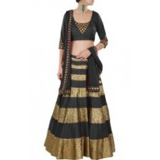 Deals, Discounts & Offers on Women Clothing - Black Fancy Designer Lehenga Choli Blen