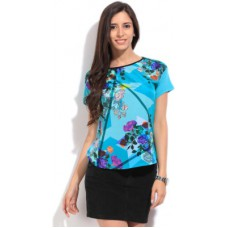 Deals, Discounts & Offers on Women Clothing - Lee Printed Women's Round Neck T-Shirt