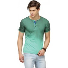 Deals, Discounts & Offers on Men Clothing - Campus Sutra Solid Men's Henley T-Shirt