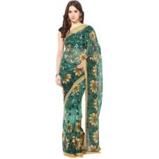 Deals, Discounts & Offers on Women - Fostelo Self Design Daily Wear Chiffon Sari