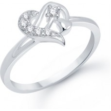 Deals, Discounts & Offers on Women - VK Jewels Sterling Heart Alloy Cubic Zirconia Rhodium Ring