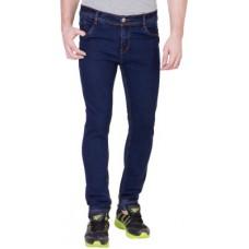 Deals, Discounts & Offers on Men Clothing - Aeroglide Slim Fit Fit Men's Dark Blue Jeans