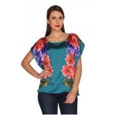 Deals, Discounts & Offers on Women - Bedazzle Floral Print Satin Women's Kaftan