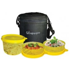 Deals, Discounts & Offers on Accessories - Oliveware Lovely Little 3 Containers Lunch Box