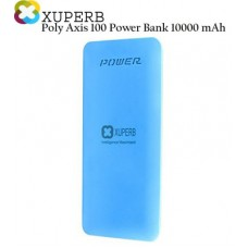 Deals, Discounts & Offers on Power Banks - Xuperb Polymer-Slim-Poly-Axis-100-Blue Power Bank 10000 mAh
