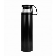 Deals, Discounts & Offers on Stationery - H2go Omada Black Vacuum Stainless Steel Drinking Bottle - 500 Ml