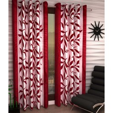 Deals, Discounts & Offers on Home Decor & Festive Needs - Home Sizzler Set of 2 Door Eyelet Curtains