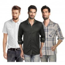 Deals, Discounts & Offers on Men Clothing - Flat 76% off on LMFAO Pack of 3 Casual Shirts