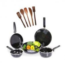 Deals, Discounts & Offers on Home Appliances - 5 Pcs Non-Stick Induction Safe Cookware & 5 Pcs Skimmer Set