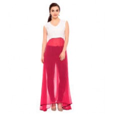Deals, Discounts & Offers on Women Clothing - Flat 64% off on Brijraj Pink Poly Georgette Tunics