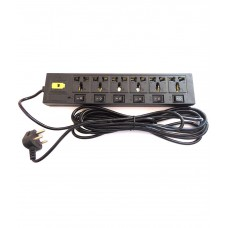 Deals, Discounts & Offers on Electronics - Sk 6+6 Sockets Power Strip Extension Board Multi Plug 5 Meter