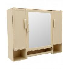 Deals, Discounts & Offers on Home Appliances - Zahab Beige Plastic Mirror Cabinet