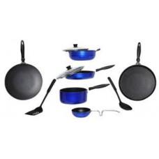 Deals, Discounts & Offers on Home Appliances - Apex 10 Pcs Blue Aluminum Friendly Cookware Set
