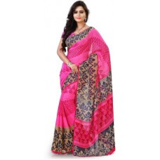 Deals, Discounts & Offers on Women Clothing - Hitansh Fashion Printed Fashion Georgette Sari