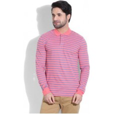 Deals, Discounts & Offers on Men Clothing - United Colors of Benetton Striped Men's Polo T-Shirt