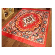 Mebelkart Offers and Deals Online - Iws Traditional Design Jute Filled Quilted Polyester Carpet