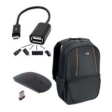 Deals, Discounts & Offers on Computers & Peripherals - Dell Black Laptop Backpack With Multi Utility Cable & Wireless Mouse