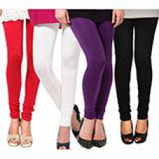 Deals, Discounts & Offers on Women Clothing - Sassily Pack Of 4 Legging Ethnic Wear In Multicolor