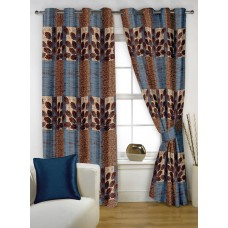 Deals, Discounts & Offers on Home Decor & Festive Needs - Story@Home 5 feet Set of 2 happiness 2 Piece Abstract Pattern Polyster Curtains