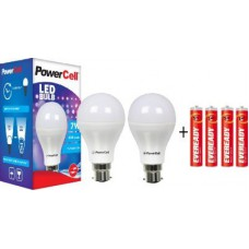 Deals, Discounts & Offers on Home & Kitchen - PowerCell 7 W LED 6500K Cool Day Light Combo Promo Bulb
