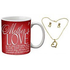 Deals, Discounts & Offers on Home Decor & Festive Needs - Mesleep Red Mothers Love Mug Mothers Day With Free Pendant Set