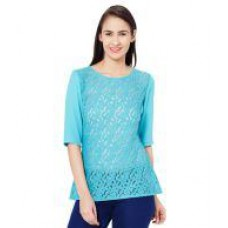 Deals, Discounts & Offers on Women Clothing - The Vanca Blue Polyester Tops