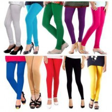 Deals, Discounts & Offers on Women Clothing - S Redish Set of 10 Multicolor Cotton Lycra leggings