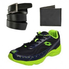 Deals, Discounts & Offers on Men - Combo of Lotto Rapid Running Sports Shoes With FastFox Belt Wallet