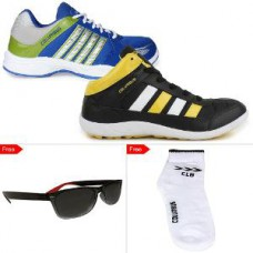 Deals, Discounts & Offers on Foot Wear - Columbus Men's Mesh Sports Shoes Combo - Set Of 2