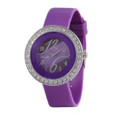 "Deals, Discounts & Offers on Women - Timebre Purple Rubber Women""s Round Analog Wrist Watch"