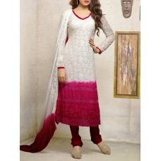 Deals, Discounts & Offers on Women Clothing - Embroidered georgette suit set