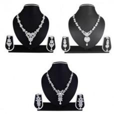 Deals, Discounts & Offers on Earings and Necklace - Atasi International Jaina Combo Alloy Jewel Set