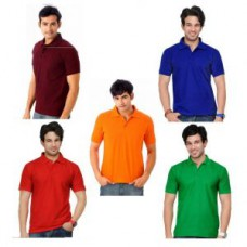 Deals, Discounts & Offers on Men Clothing - A Pack Of Five Lime Polo Tshirts