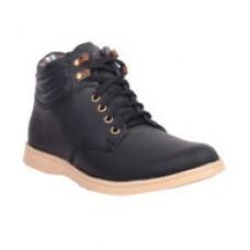 Deals, Discounts & Offers on Foot Wear - Flat 28% off on Musk Duck Black Sneaker Shoes