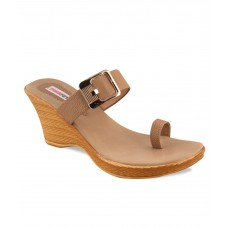 Deals, Discounts & Offers on Foot Wear - Pink Fever Brown Heeled Slip-on