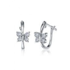 Deals, Discounts & Offers on Earings and Necklace - Kiara Swarovski Elements White Gold Plated Earring