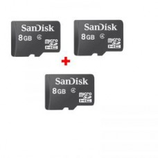 Deals, Discounts & Offers on Mobile Accessories - Sandisk 8GB Micro Sdhc Memory Card-class4 - pack Of 3