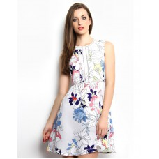 Deals, Discounts & Offers on Women Clothing - XnY Printed Lace Insert Dress