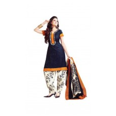 Deals, Discounts & Offers on Women Clothing - Vaamsi Blue Unstitched Dress Material