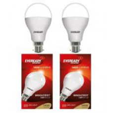 Deals, Discounts & Offers on Home & Kitchen - Eveready 14w LED Bulb with 4 Free Eveready Ultima AAA Alkaline Battery